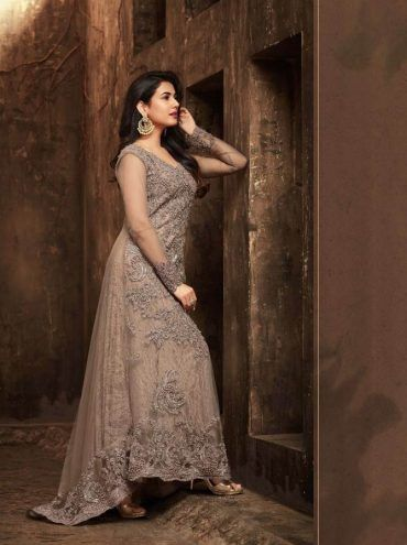 aa5deb102d Indian Woman clothes Wedding Wear Party wear Maisha -5503 Grey Embroidery  Work And with Diamond Work Designer Style Anarkali Suit -FC-5686 | | ...