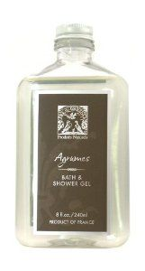 Pre de Provence Bath and Shower Gel, Agrumes, 8 ounces Bottle by Pre de Provence. $10.13. Pure essential oils added for fragrance. Gels so thick and rich they can be used in the tub for bubbles or on a sponge in the shower. Free of colorants and parabens. Our lightly scented shower gels cleanse gently, lather richly, and refresh deeply without drying skin.  Free of colorants and parabens.. Save 40% Off!