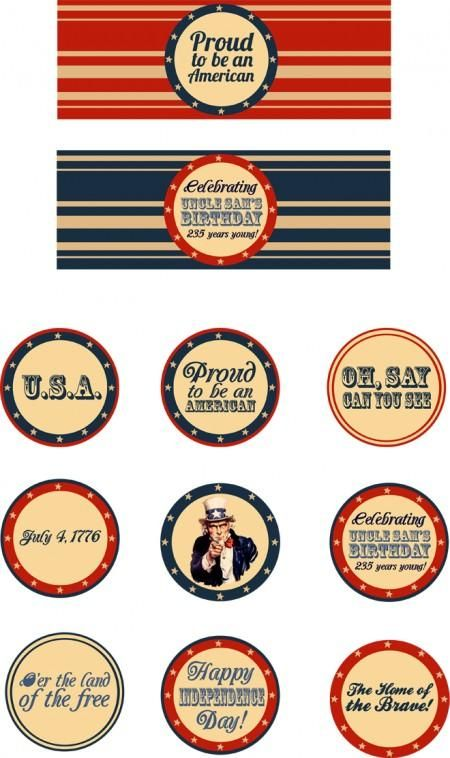free printable cupcake toppers and water bottle labels