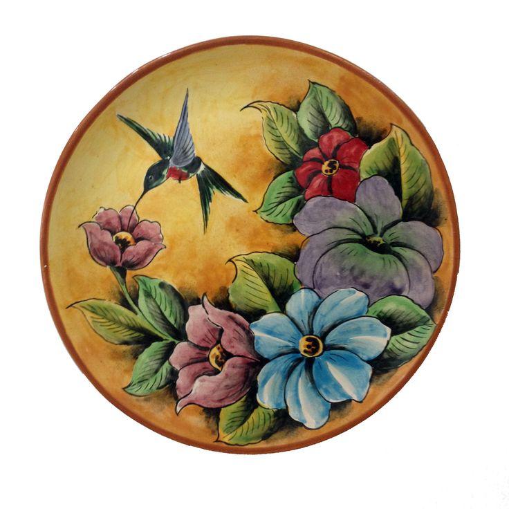 Yellow Hummingbird Decorative Plate Çizimler