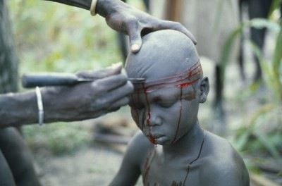 Sudan, Dinka, scarification
