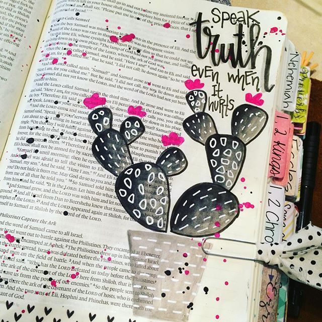Bible Journaling by Christina Lowery @christinasalive | 1 Samuel 3