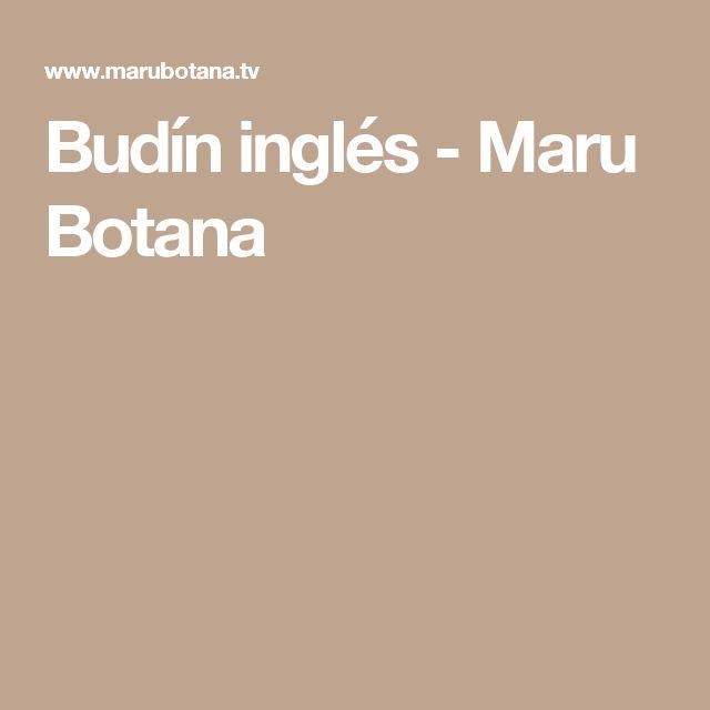 Budín inglés - Maru Botana