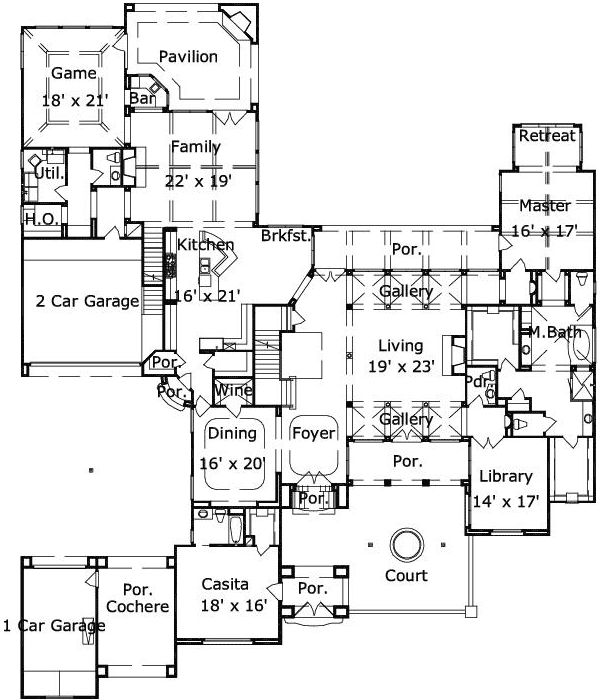 101 best dream home floor plans images on pinterest dream homes House Plans With 3 Car Garage Apartment 101 best dream home floor plans images on pinterest dream homes, my dream home and floor plans house plans with 3 car garage apartment