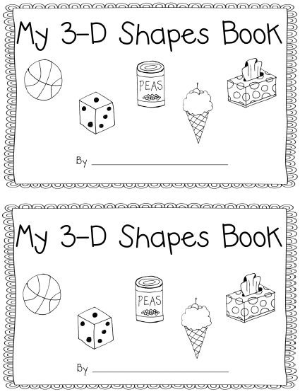 Learning with a Happy Heart: 3-D Shapes Book with Real World Objects
