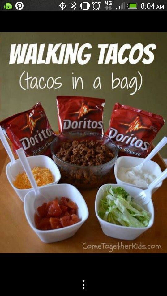 Instead of bagged chips, you could put regular tortilla chips in baggies & add everything else.