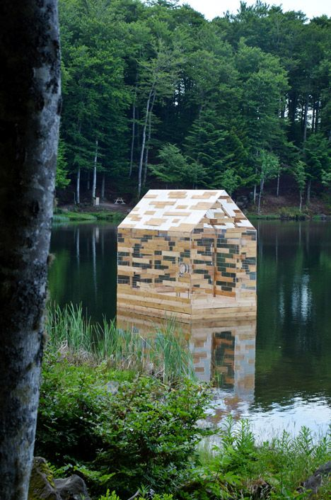 The installation is named after the cabin that author Henry David Thoreau built in the woods around Walden Pond