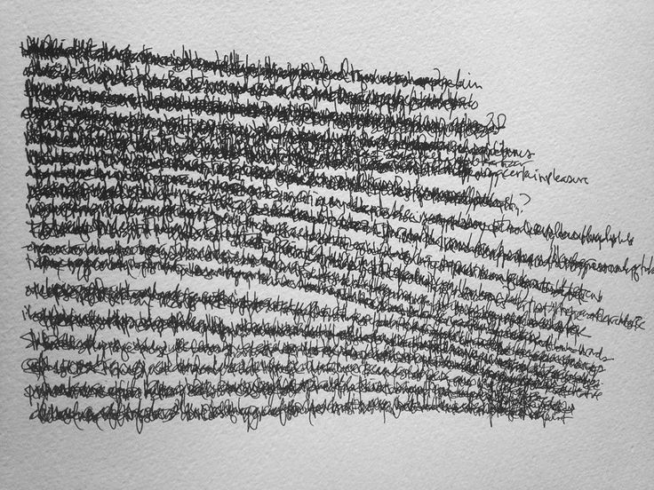 Words and words and lines  by Kevin Townsend ... Asemic writing