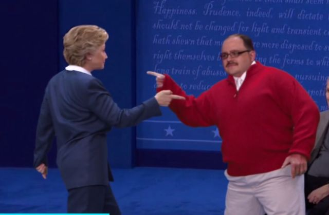No one doubts the winner of Sunday night's presidential debate was sweater-wearing Ken Bone, but why isn't anyone talking about the moment when he and candidate Hillary Clinton showed off their dance moves? ThankfullyEllen DeGeneres unearthed this hidden gem.  Clinton appears on DeGeneres' show today; an advance clip shows her cracking up at this hilarious (and generously retouched) video:    MORE: For one week only, you can...