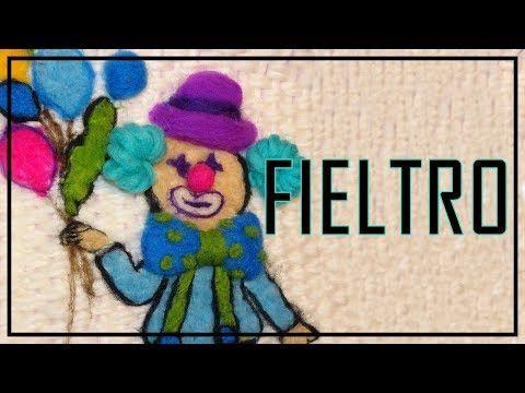 PAYASO bordado en Vellón / FIELTRO. LANA TERAPIA. Felt. Filz. Wool theraphy. Antistress - YouTube