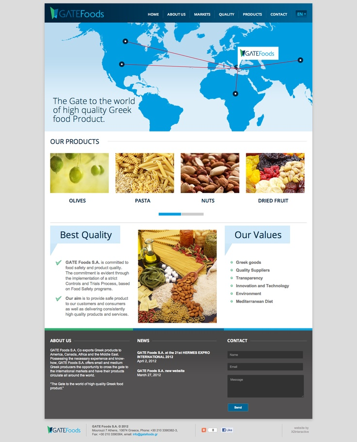 New Gate foods website is now live!