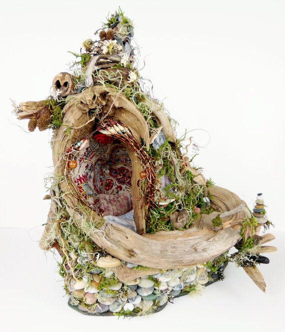 Awaiting Fae Fairy House Home Natural Dwelling by BloomingGoddess, $349.99