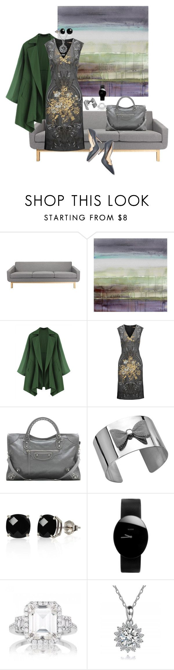 Gray Day by teresarussell49 on Polyvore featuring Roberto Cavalli, Balenciaga, Rado, Belk & Co. and Paul Andrew