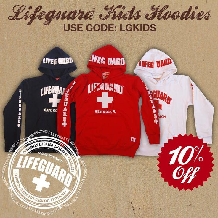 #lifeguard #beachlifeguard - Kids Lifeguard Hoodies on Sale!  BeachLifeguard.com
