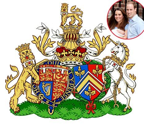 "Kate Middleton and Prince William have received a ""Conjugal Coat of Arms"" to represent them in marriage as the Duke and Duchess of Cambridge"