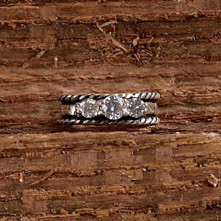 Engagement ring with a country twist