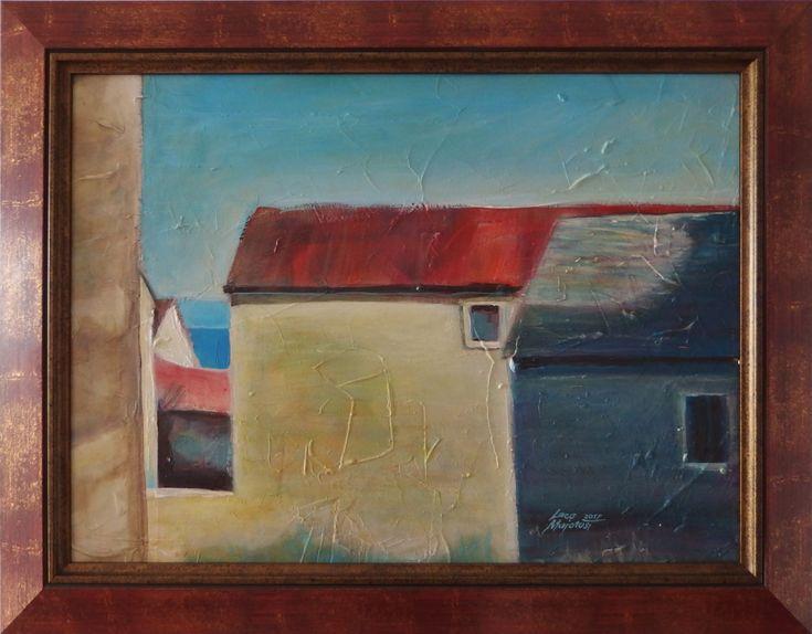 Ladislav Majoroši - Jadran, akryl na sololite, 38 x 52 cm, 2017