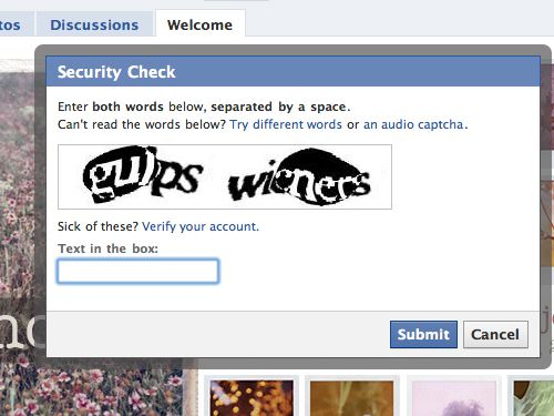 Ha ha! I never get such funny captcha! Let alone able to read them in the first place!