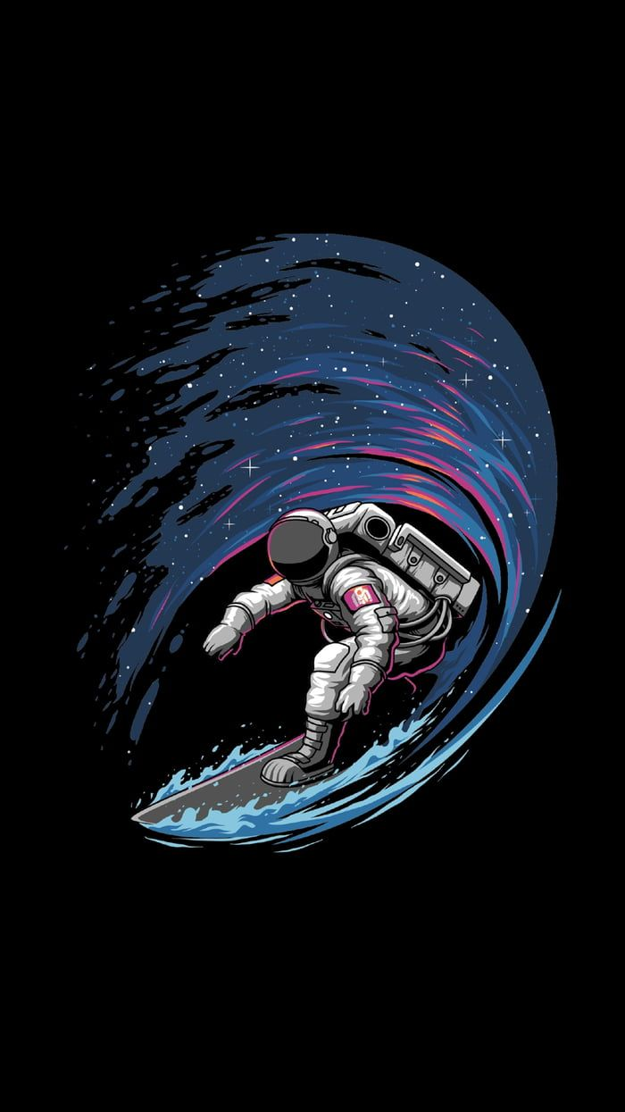 Space Surfer (With images) Space iphone wallpaper