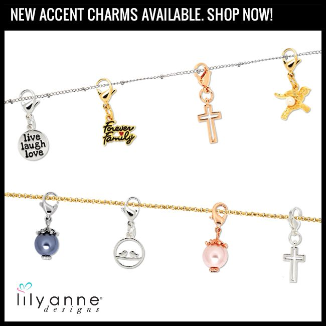 Accentuate your personalised locket with these beautiful Accent Charms!   Shop now at www.lilyannedesigns.com.au/SarahKelly  #LilyAnneDesigns #lilyannedesignswithSarahKelly #AccentCharms #PartyPlan #SocialSelling