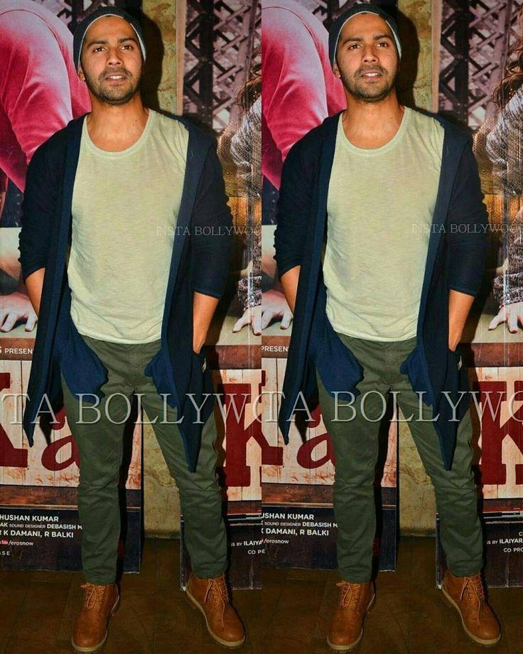 Rate his look  1....   #VarunDhawan looking cool in casuals at the special  screening of #ArjunKapoor Movie #KiandKa @Bollywood  . . #instabollywood #bollywood #india #indian #desi #bollywoodactress #mumbai #bollywoodfashion #bollywoodstyle #bollywoodmovie #indianfashion #kareenakapoorkhan #kareenakapoor #arjunkapoor #kiandka #karishmakapoor #bollywoodstylefile #bollywood #stylefile #india #indian #indianfashion #indianstyle #bollywoodstyle #delhi #mumbai  @BOLLYWOOD  . For more follow…