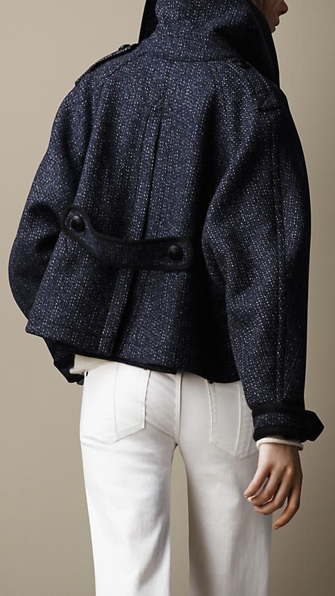 Oversize Cropped Pea Coat | Burberry