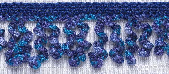 Crochet Trim: Curlicue Fringe