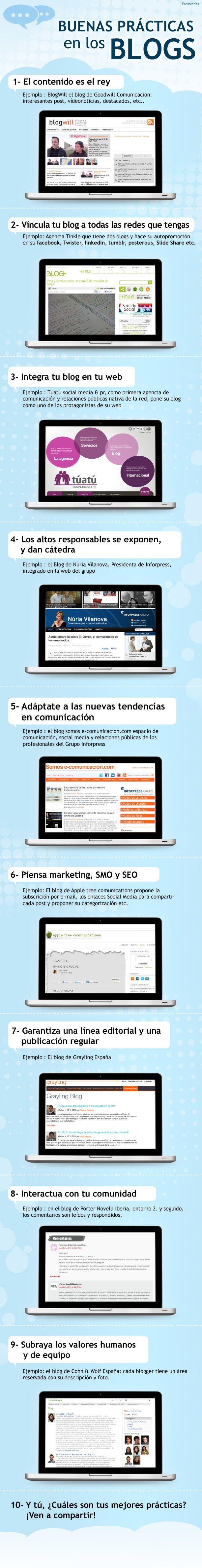 Buenas prácticas en los blogs #infografia #infographic #socialmedia #marketing