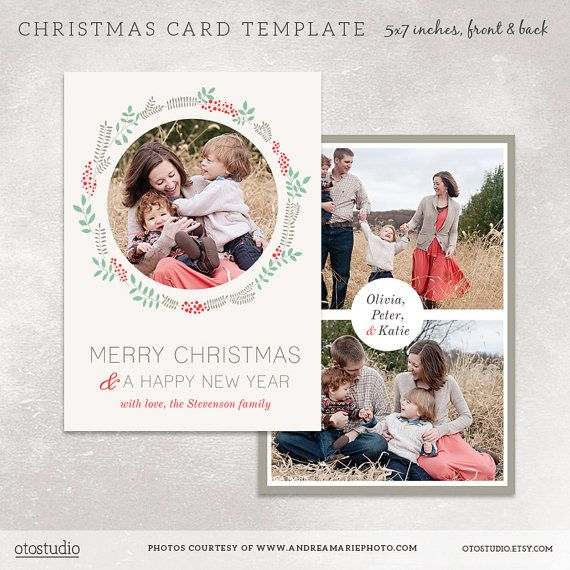 Christmas card template for photographers digital for Digital christmas cards templates