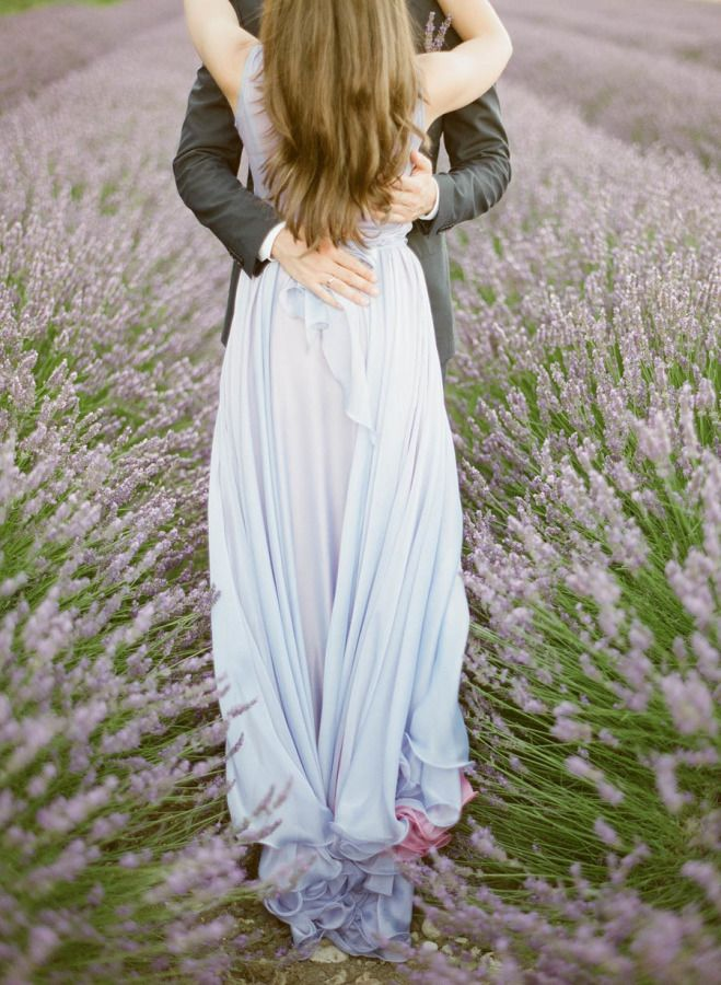Could not be prettier: http://www.stylemepretty.com/2015/07/31/a-provence-engagement-session-in-fields-lavender/ | Photography: Greg Finck - http://www.gregfinck.com/