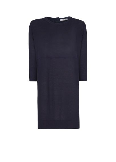 Contrasted panel knit dress #mango