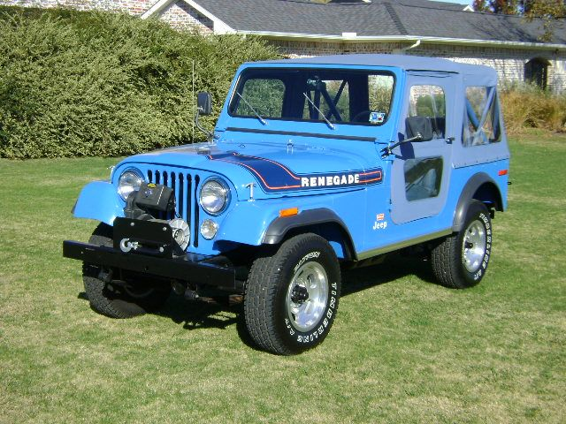 1974 Jeep Cj5 Soft Top - Jeep Renegade In Brilliant Blue With Levis Interior Blue Besttop Soft Top Factory Engine And Warn Special Edition Winch - 1974 Jeep Cj5 Soft Top