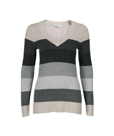 Ricki's - Grey Ombre Stripe Pullover
