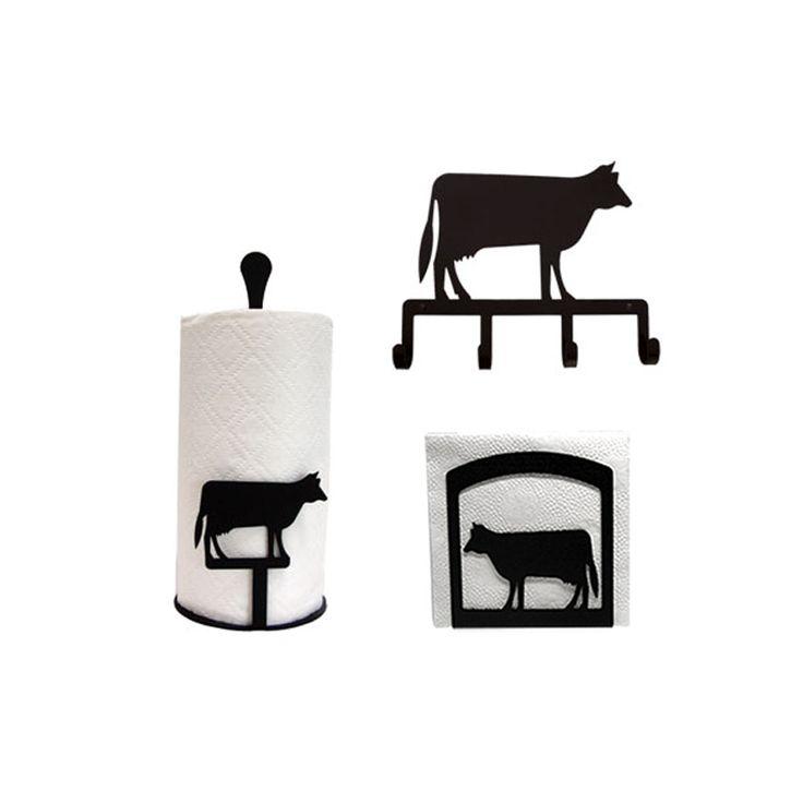 cow decor | Dairy Cow Kitchen Decor Combo Set