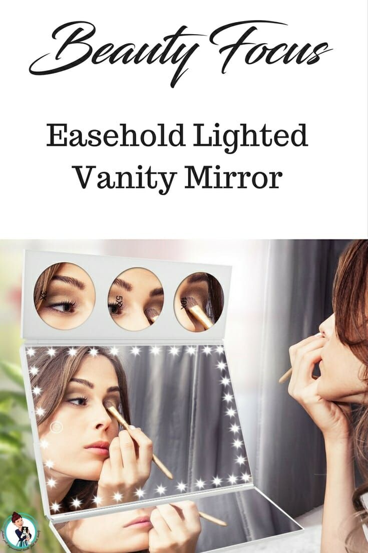 Easehold Lighted Vanity Mirror. A Beauty Focus.Get the details before you purchase. My experience with the Easehold Vanity Mirror. #mirror #beauty #makeup  via @FashionBeyond40