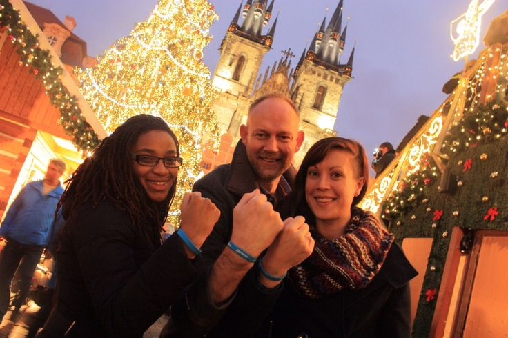 #BandTogether with BeatBullying's Charlene, Neil and Zoe, in Prague.