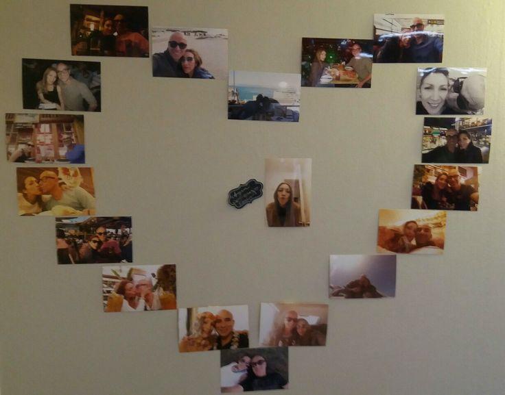 Organiza las mejores fotos junto a tu pareja y sorprendelo con este corazón de recuerdos de los mejores momentos en pareja.