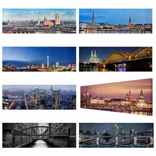 Bilderwelten Leinwandbild Panorama »Deutsche Städte Leinwandbilder« online kaufen