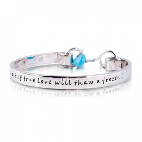 "Disney Couture Frozen ""True Love will Thaw a Frozen Heart"" Bangle Bracelet at aquaruby.com"