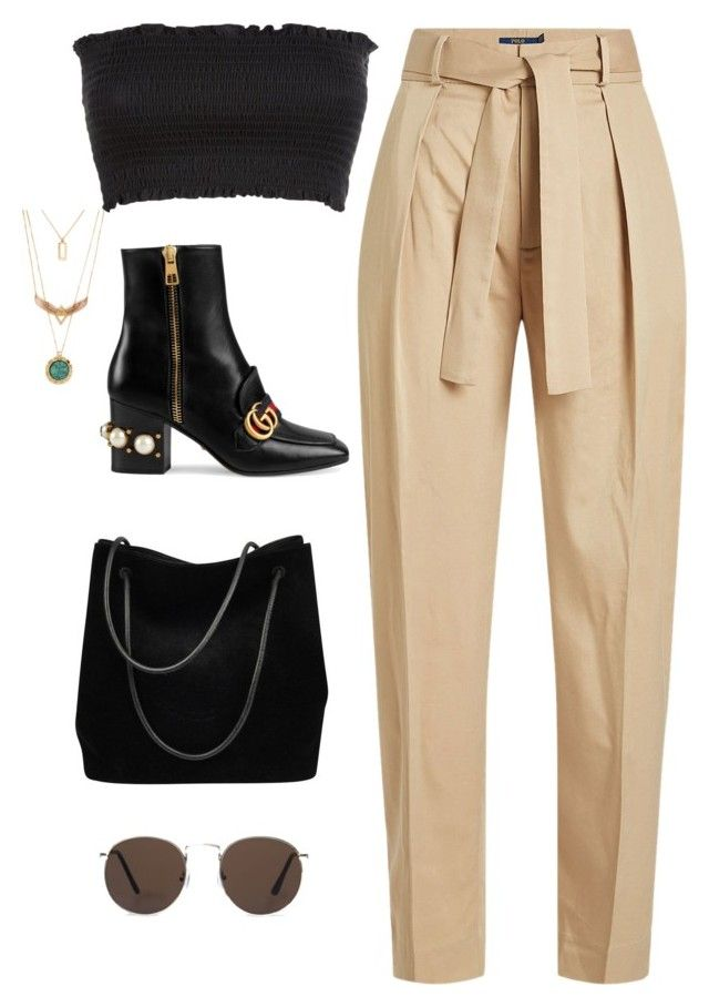 """""""Untitled #4406"""" by magsmccray on Polyvore featuring Polo Ralph Lauren, MANGO and Gucci"""
