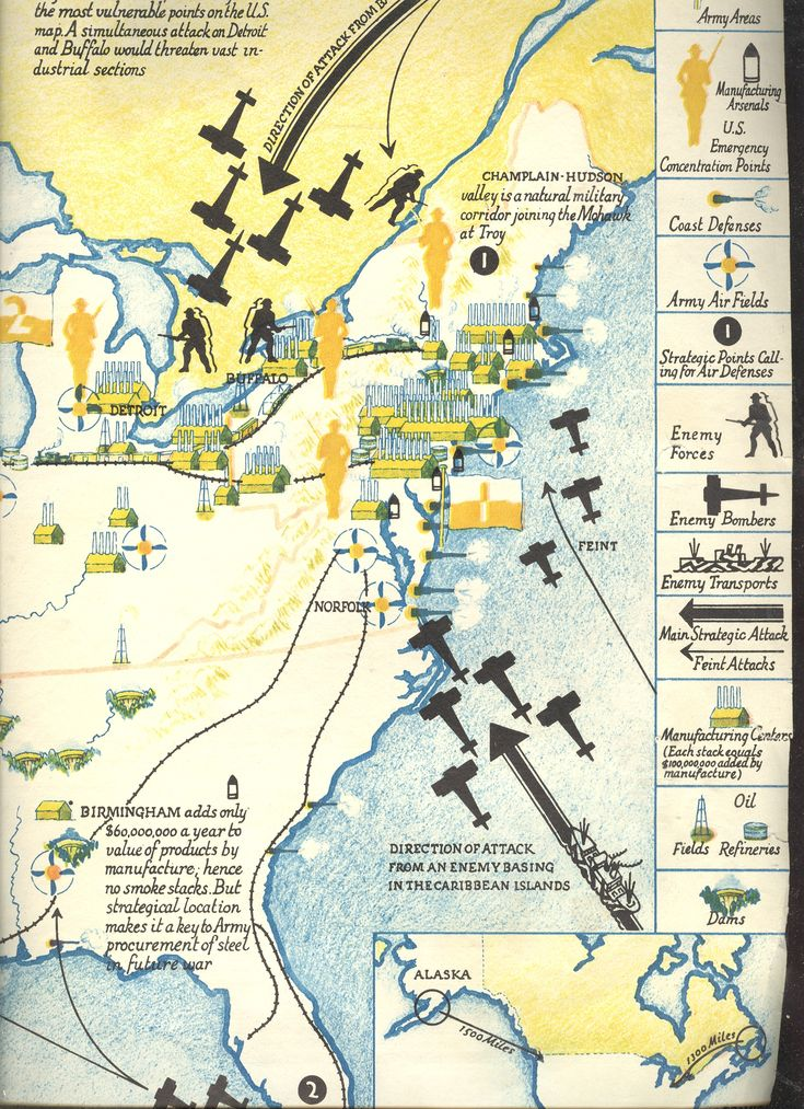 Fortune Magazine For September 1935 For Possible Invasion Routes To America