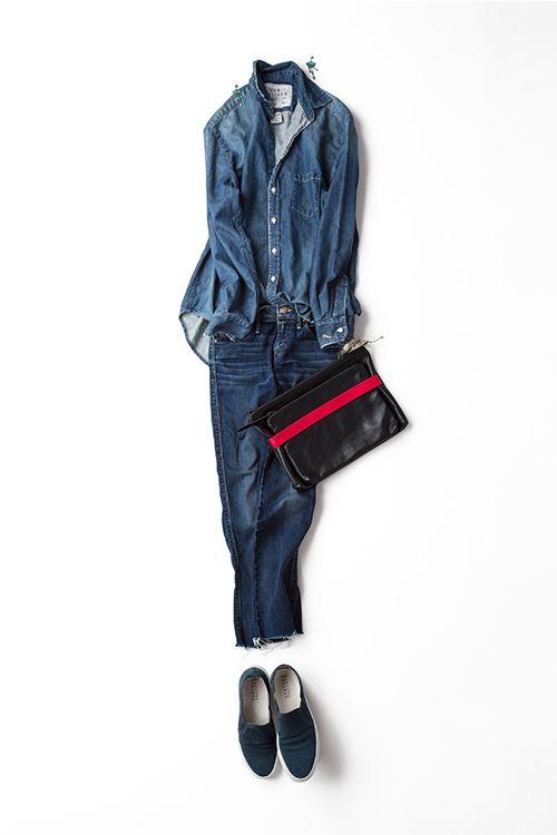 blue jeans one tone  http://kk-closet.com/cordinate/