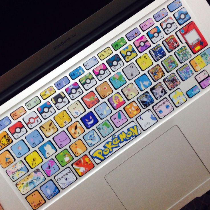 Pokemon Keyboard Stickers Mac Decals Shut Up And Take My Yen : Anime & Gaming Merchandise