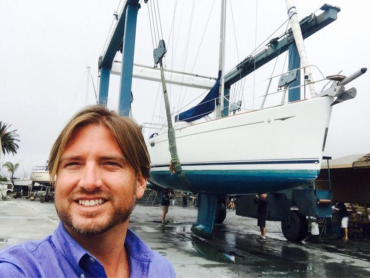 Today's haul out of my #Jeanneau49so #SunOdyssey #Sailboat #listing today in #SanDiego #California #IanVanTuyl #IVTYachtSales #YachtsForSaleInCalifornia