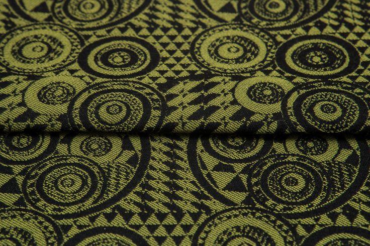 Playground Kiwi & Black #weavingstudio #fabricart #cottonfabric #playground #black #kiwi