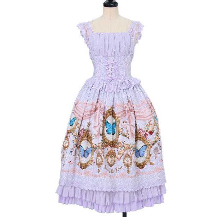 Écailles De Lune .. * ° +. .. * ° +. Burial Of Butterfly jumper skirt II https://www.wunderwelt.jp/fleur/products/s-00062  ☆ Official online retailer ☆ Wunderwelt Fleur ☆