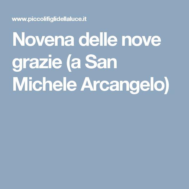 Novena delle nove grazie (a San Michele Arcangelo)
