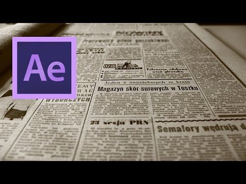 After Effects: Create a Video to Newspaper Front-Page Transition Effect - YouTube