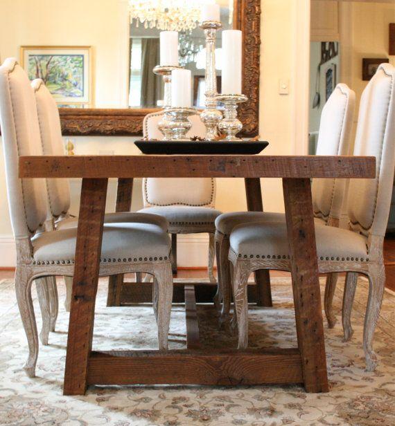 The Pecky Dining Table Farmhouse Style Table Made  : c8dcfae04e77b66edfc1de3c42ad3dd0 from www.pinterest.com size 570 x 616 jpeg 64kB
