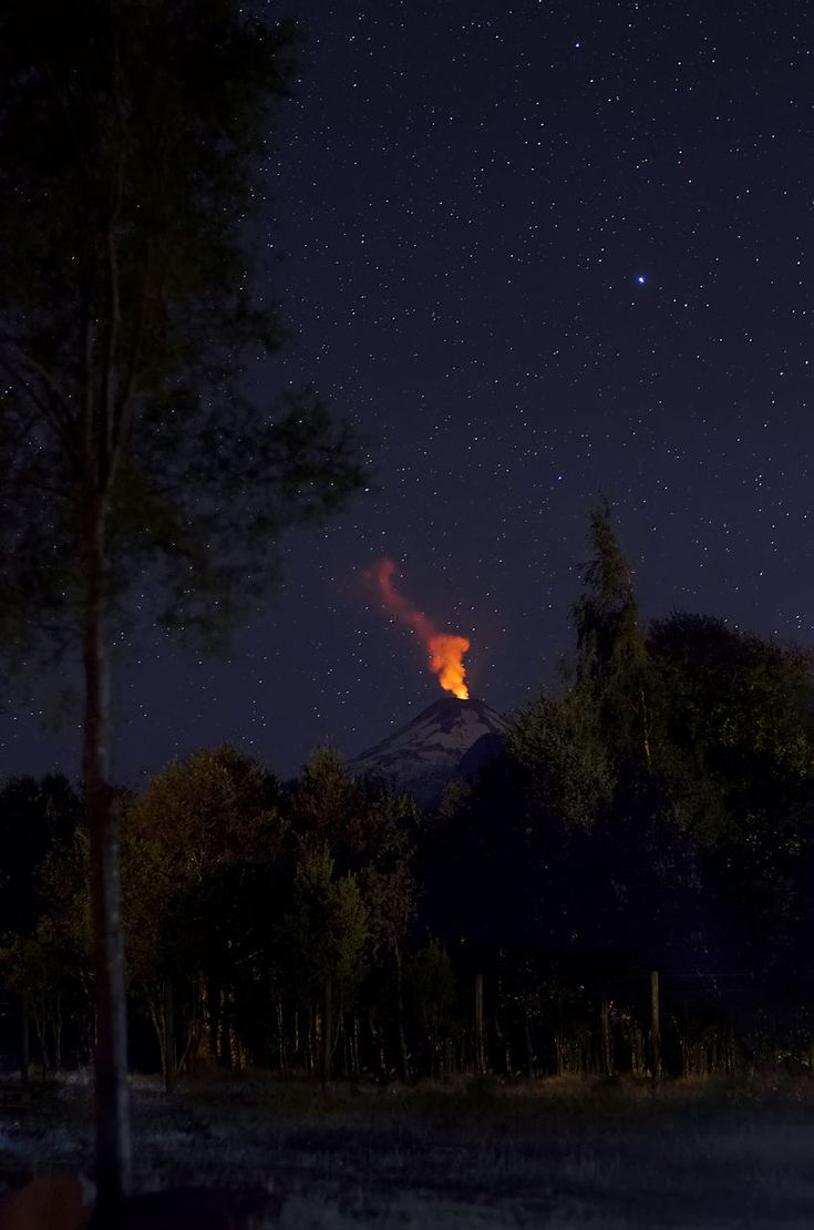 night, outdoors, nature, no people, tree, beauty in nature, lava, star - space, sky